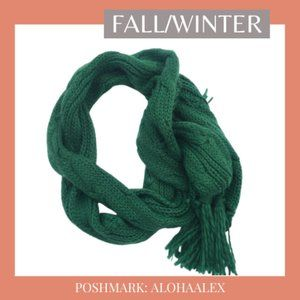 Accessories - GREEN KNIT SCARF FOR FALL/WINTER